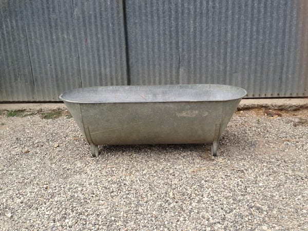 Antique Zinc Bathtub