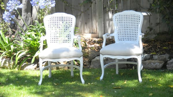 FLOYD FRENCH CANED BACK CHAIR
