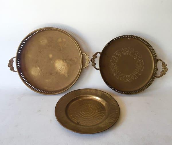 "Brass tray  small    8"""