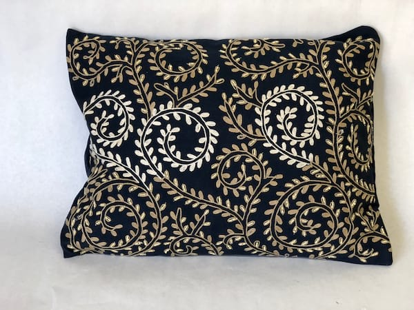 Navy leaf  pillow