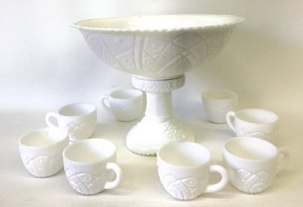 white punch bowl