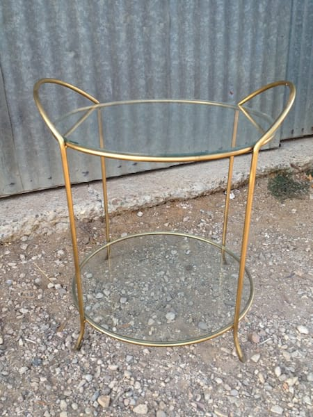 KELSEY MID CENTURY GLASS TABLE
