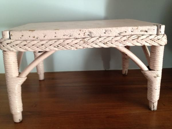 Pink Wicker Stand