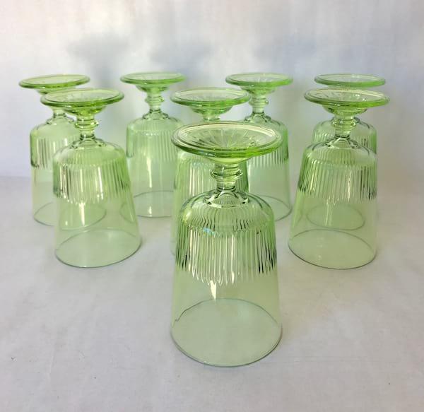 """Green """"Vaseline Glass"""