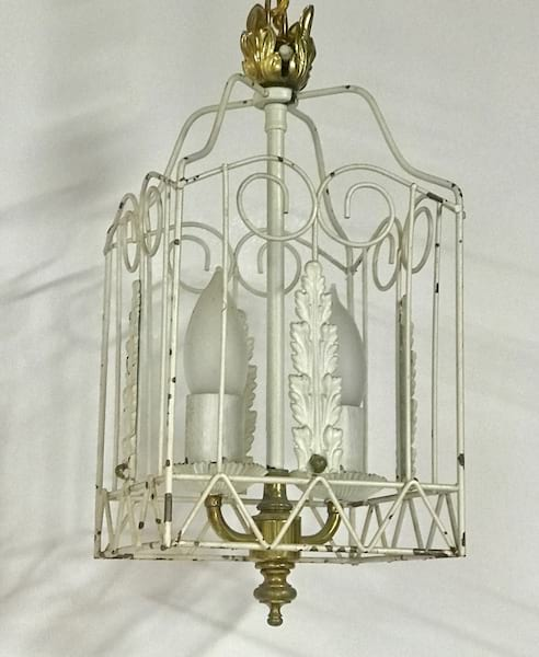 CONNIE small white chandelier