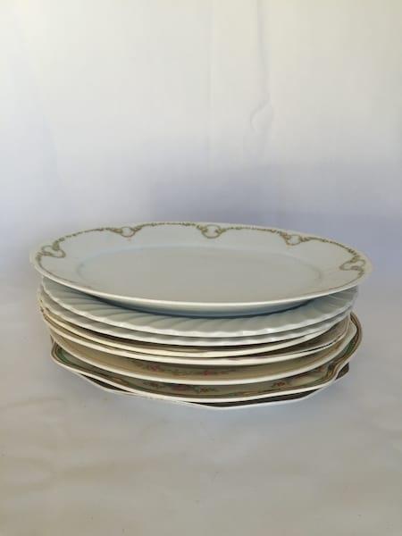 medium size vintage platters