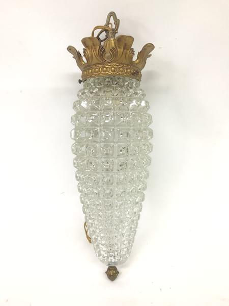 MID CENTURY CRYSTAL Hanging Lamp