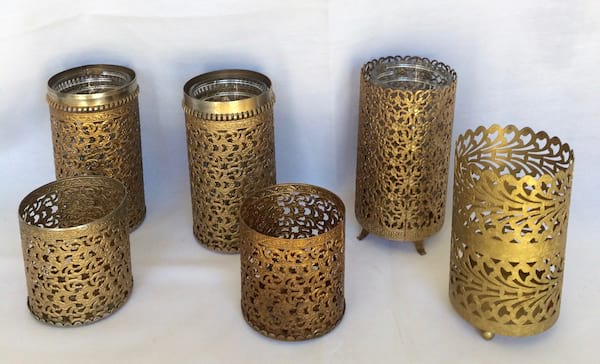 Brass Filigree container