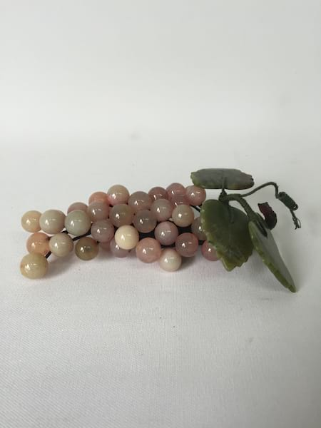 TINY PINK GLASS GRAPES