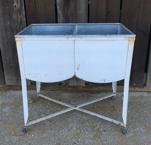 Winnie white double wash tub inventory dana powers house Double sink washstand