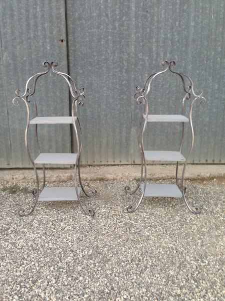 Silver Finish French Style Shelves
