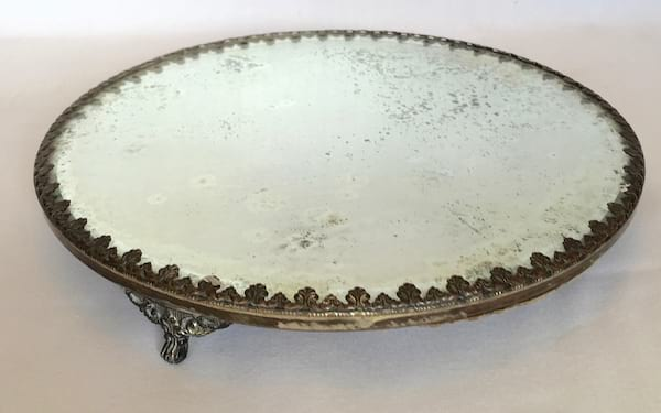 Brass Trimmed cake plateau