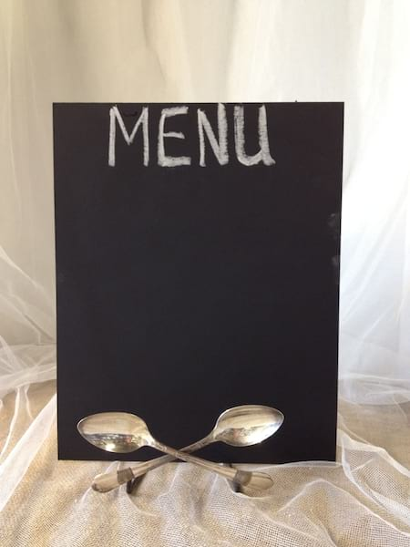 Menu Board with spoon prop