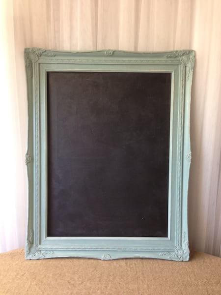 Aqua Frame Chalkboard