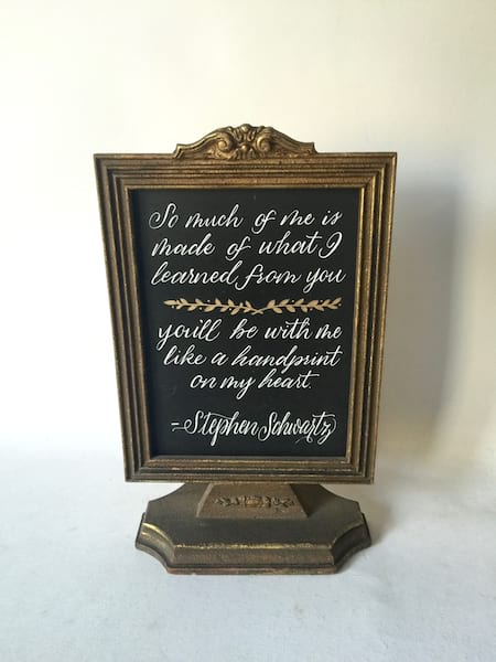 Picture Frame on Stand