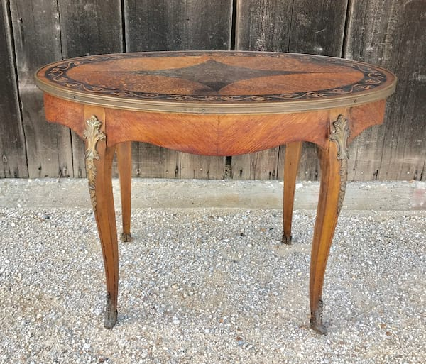 ODESSA BRASS TRIMMED COFFEE TABLE