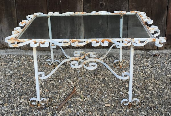 WALKER WHITE IRON COFFEE TABLE