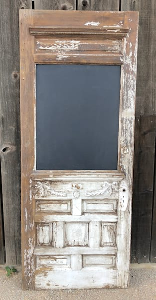 VINTAGE DOOR WITH CHALKBOARD