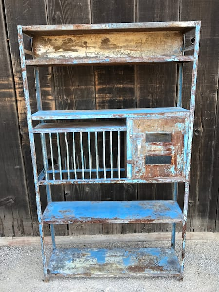 SAMPSON RUSTIC SHELF WITH BLUE