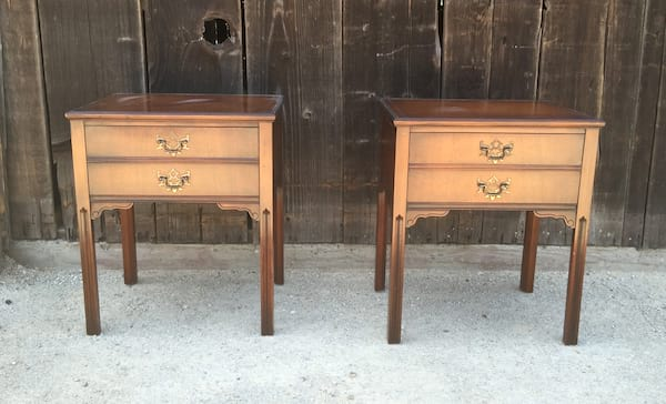 CARLTON MATCHING WOOD SIDE TABLE