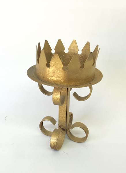 BECKY GOLD CANDLE HOLDER