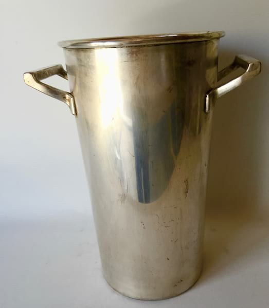SILVER FRENCH FLOWER BUCKET