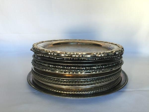 Round Silver Trays