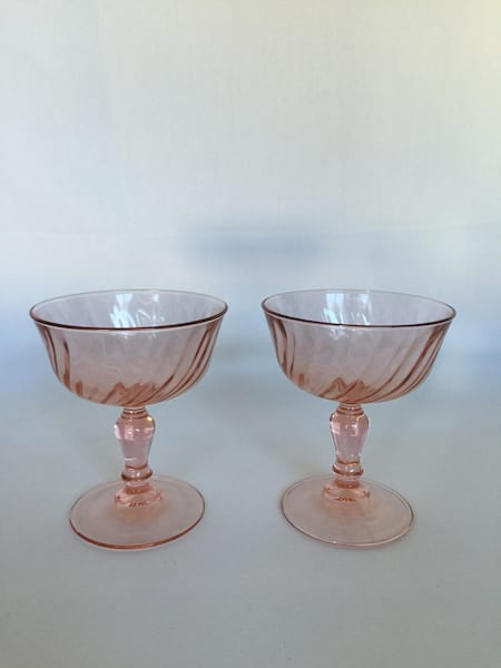 Pink Coupe Toasting Glasses