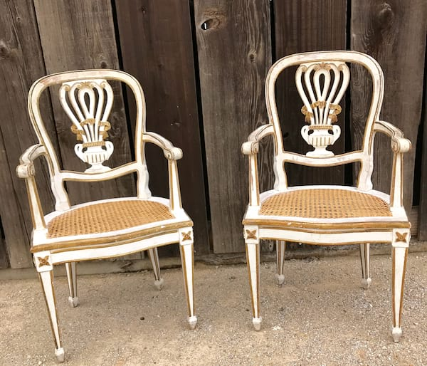 CADENCE CREAM AND GOLD CHAIR