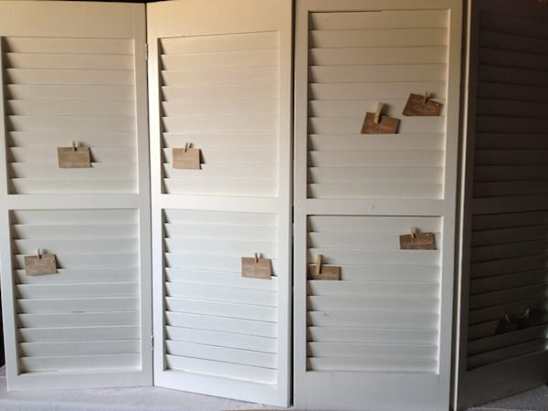 Table Top White Shutters