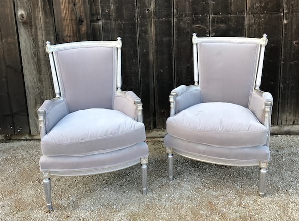 CELESTE GRAY VELVET CHAIR
