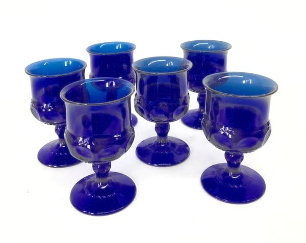 Colbalt blue goblets wine