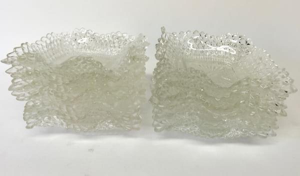 RUFFLED GLASS DESSERT BOWLS
