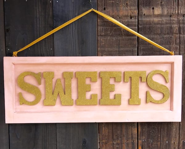 Pink and Gold Sweets Sign