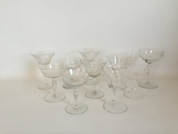 Fancy Clear Coupe Toasting Glasses