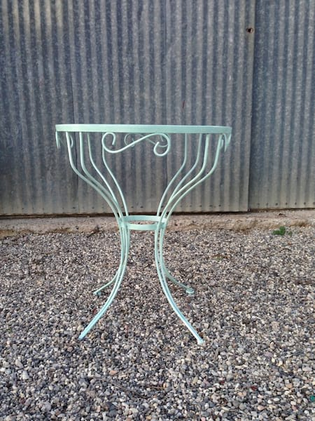 ANDRE AQUA WROUGHT IRON TABLE