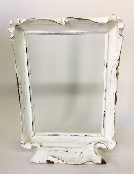 White frame on stand