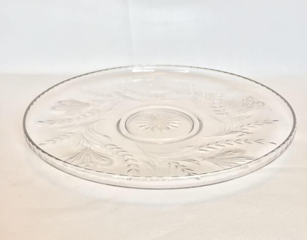Glass Platter wheat pattern