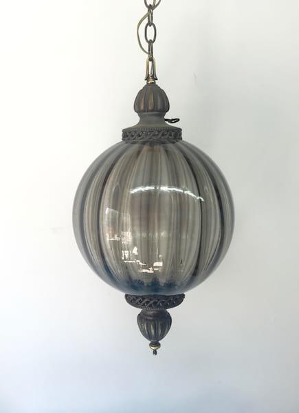 Gray glass hanging light