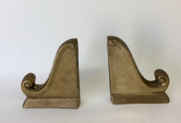 BRITTANY BRASS BOOKENDS SET