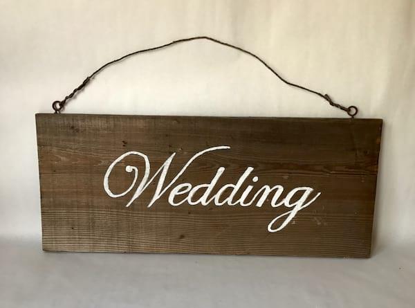 """WEDDING"" WOOD SIGN"