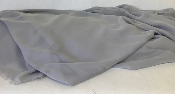 Gray fabric chiffon (10 yards)