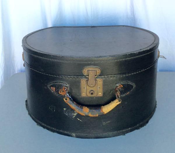 Boris Black Suitcase Hat Box