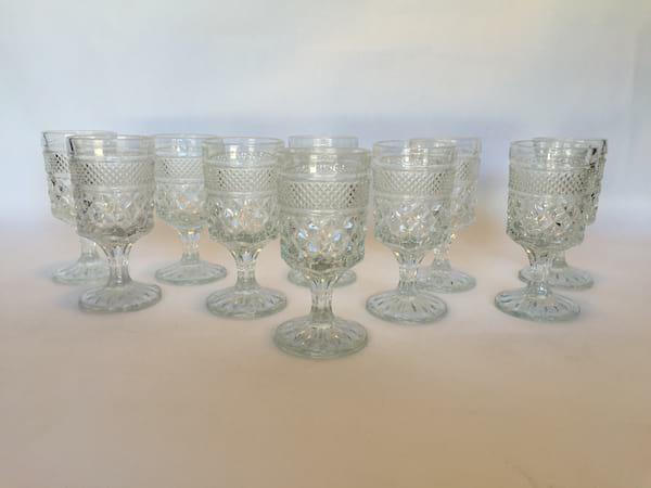 diamond Glass Goblets wine