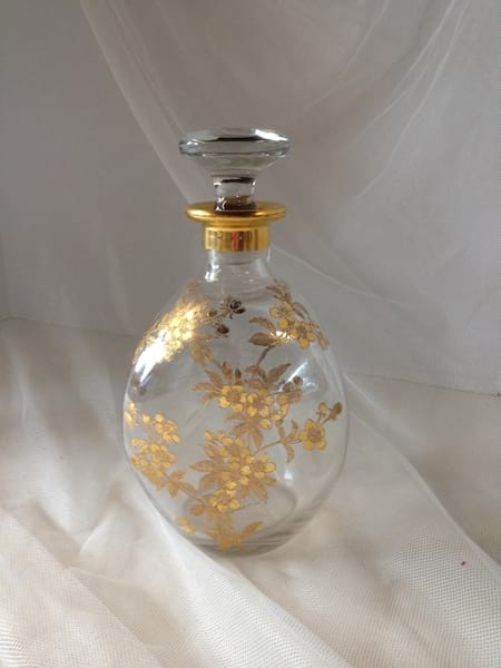 Gold Etched Decanter