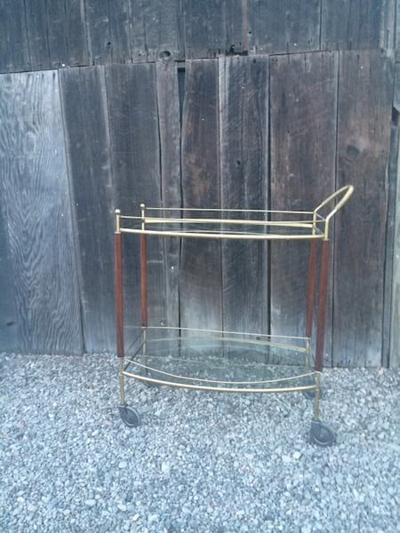 MACBETH MID CENTURY BAR CART