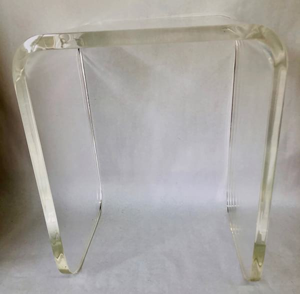 WATERFALL LUCITE SIDE TABLE