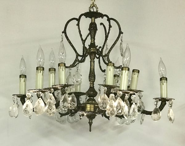 CECILIA brass chandelier