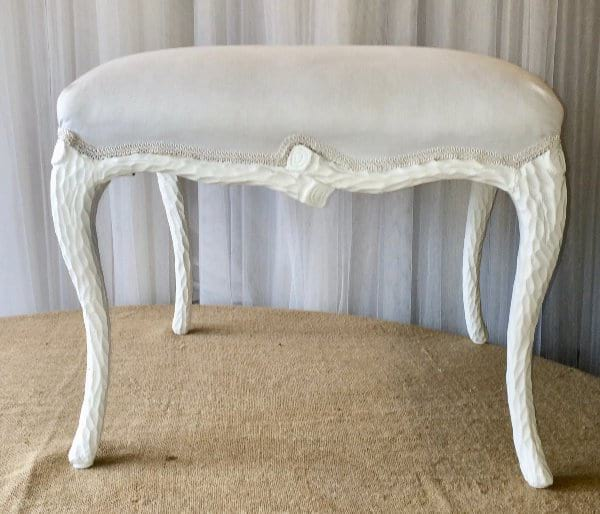 SHANNON WHITE FRENCH STYLE STOOL
