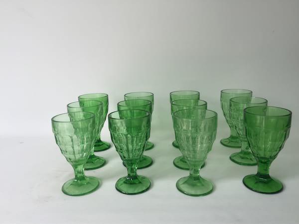 Light Green Goblet wine